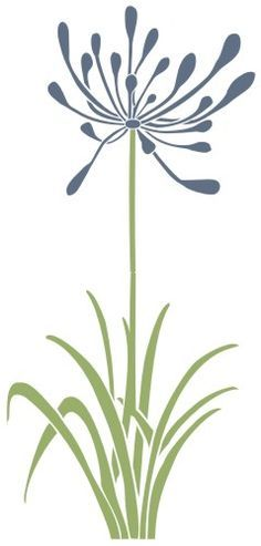 Stencils for the Linemarking Industry Stencil Patterns, Stencil Art, Stencil Designs, Flower Stencils, Stenciling, Agapanthus, Delphinium, Sgraffito, Fabric Painting