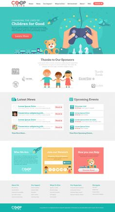 Design #51 by Googa | 99nonprofits: Design an Creative and Inspiring web design for Nonprofit Children/s Charity!