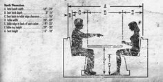 Booth Dimensions - Reference: Common Dimensions, Angles and Heights for Seating Designers - Core77