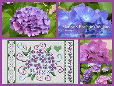 free cross stitch chart hydrangeas