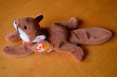 Sly Original TAN BELLY Beanie Baby RARE !!