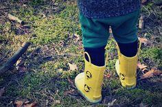 Żółte gumowce dla dzieci Yellow, Cayole #stylowe i  łatwe w ubieraniu