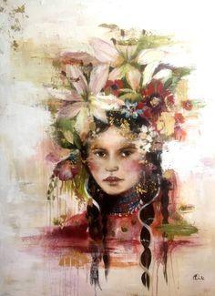 Original art Kashmir inspired by claudiatremblay on Etsy Claudia Tremblay, Original Paintings, Original Art, Cover Art, Saatchi Art, Oil On Canvas, Fine Art Prints, Colours, Portrait