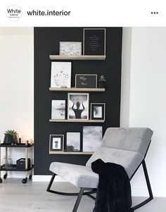 Black accent/gallery wall