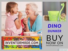 Check Out InventorMade.com and BUY products directly from inventors. #SupportAnInventor #InventorProcess #inventormade #dinodunker #family #kids #fun #food #dunktools #cookies Leash Aggression, Ladder Accessories, The Inventors, Achieve Success, Kids Fun, Family Kids, How To Stay Motivated, Renewable Energy, Fun Food