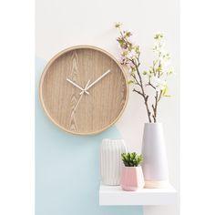 Uhr aus Holz, D 31cm, ANDERS