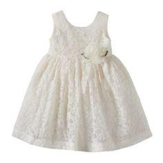 Blueberi Boulevard Flower Lace Dress - Baby Girl