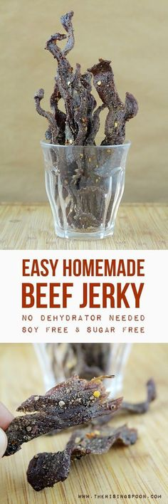 Want to learn how to make the best beef jerky at home? It's much easier than you think! I'm sharing my favorite recipe for spicy black pepper beef jerky (with no sugar or soy) + how to make jerky in the oven. Once you try homemade beef jerky you'll never go back to the store-bought stuff!