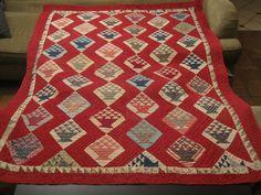 "1930s Hand Sewn Quilt 76"" L x 63"" W Finished Basket Pattern Antique Vintage | eBay, spirronium"