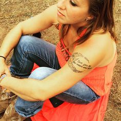"""girl w tat """"I love you to the moon and back"""" Instagram- #lockn2015 fest #beautiful #inked"""