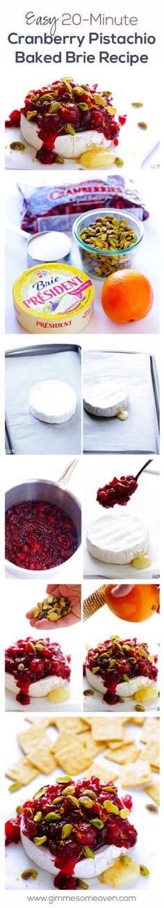 This easy, crowd-pleasing appetizer is perfect for the holidays.  (And it's a GREAT use for leftover cranberry sauce!) gimmesomeoven.com