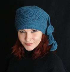Knitting pattern for Hollyhock Hat modified pillbox with lace brim - botanical . On Etsy (affiliate link) tba