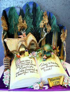 Snow White storybook cake