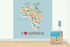 I love Africa mural by Design Meets Life on hellopretty.co.za