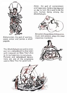 Japanese Seven Deities of Good Fortune by JNTO