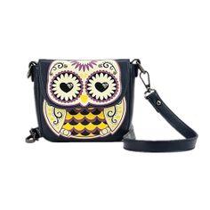 Floral Owl Satchel