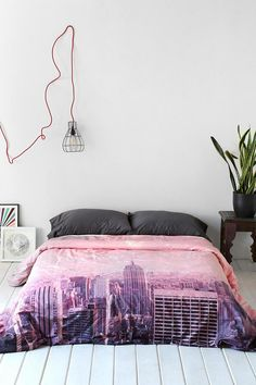 Bianca Green For DENY Stardust Covering NYC Duvet Cover #urbanoutfitters