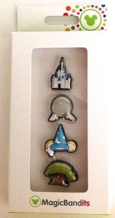 Walt Disney World Four Parks Icon Magic Band Bandits Set of 4 NEW Charms Disney,http://www.amazon.com/dp/B00JRFRE4E/ref=cm_sw_r_pi_dp_dCbEtb1GRBTKB8GB