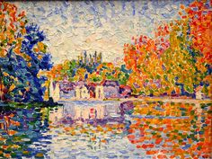 Painting of the Seine by Paul Signac #art #signac #neoimpressionism