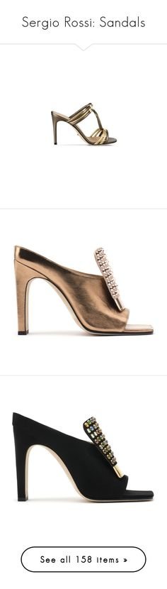 """""""Sergio Rossi: Sandals"""" by livnd ❤ liked on Polyvore featuring Heels, sandals, SergioRossi, shoes, sergio rossi shoes, sergio rossi, sergio rossi sandals, flats, metallic shoes and open toe shoes"""