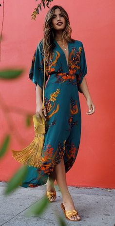 Boho Printed Colour Split V Neck Casual Maxi Dress Product Boho Casual Printed Colour Split V Neck Dress Brand Name … Boho Fashion, Fashion Outfits, Womens Fashion, Style Fashion, Fashion Hacks, Cheap Fashion, Fashion Tips, Fashion Design, Mode Lookbook