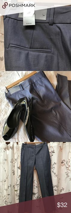 NWT Ann Taylor Classic Fit Trousers sz 2P Class and style are yours when you wear these slim, steel blue beauties. Perfect for so many occasion. Ann Taylor Pants Trousers