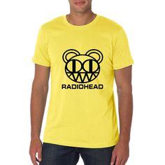 Pizi Men's 100 Cotton Short Sleeve Shirt Radiohead Clothes