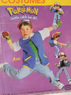 Ash Pokemon Catch Em All Unisex Costume Stage Play Halloween Costume McCall's 220 / 3002 UNCUT Sewing Pattern Child Sizes 4 to 8 Sewing Patterns For Kids, Vintage Sewing Patterns, Pokemon Costumes, Ash Pokemon, Halloween Patterns, Raggedy Ann And Andy, Stage Play, Catch Em All, Cross Stitch Designs