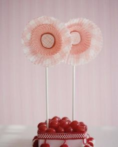 Fun flowers made from cupcake liners. #SweetPaul