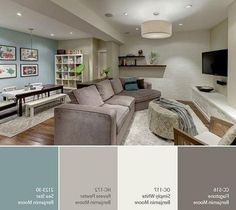 Great Color Palette For Basement. #Colorpalette #BasementColorPalette Via  Favorite · Basement IdeasBasement ColorsBasement Family RoomsBasement ...