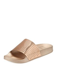 8fb150744937 Shop Timmie Perforated Shower Slide Sandal from Dolce Vita at Neiman Marcus  Last Call