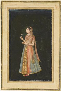 century Mughal paintings also show women engaged in leisure activities within the harem or away from it hunting or visiting holy figures. By the century, when Mughal artists worked for a. Mughal Miniature Paintings, Mughal Paintings, Indian Paintings, Vintage Paintings, Indian Artwork, Indian Arts And Crafts, Ancient Persian, Vintage India, Mughal Empire
