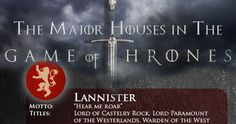 game of thrones season 3 infographic Game of Thrones Season 3 Character & House Guide [Infographic]