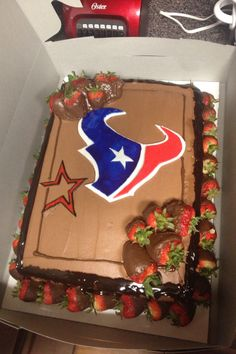 Houston Texans/Astros cake I made for a customer for his grooms cake! Told me him and his wife will be using me for all their cakes!! :))
