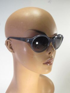 5df4be6b70a0 Details about Vintage Sunglasses Brown Oversized Glasses round Made in Italy