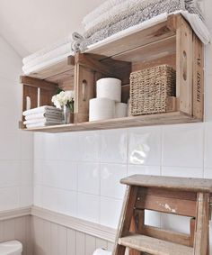 Bathroom storage ideas – Bathroom storage hacks and solutions Looking for bathroom storage ideas? Bathroom storage is key to a successful bathroom makeover. Take a look at these bathroom storage hacks Toilet Storage, Crate Storage, Storage Hacks, Wall Storage, Extra Storage, Kids Storage, Bathroom Storage Solutions, Small Bathroom Storage, Bathroom Towel Shelves