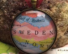 Check out Sweden Christmas Ornament, Keep a memory Alive / HONEYMOON Gift / Wedding Map Gift / Travel Tree Ornament /Bridesmaid Gift / Secret Santa / on theblueprint