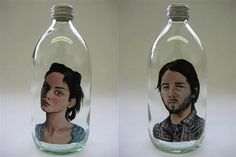 meghan paterson painting on glass bottles