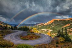 Red Mountain Pass on the San Juan Skyway is beautiful in all weather but especially with a double rainbow!
