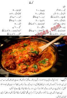 Kofta Recipe By Zubaida Tariq In Urdu