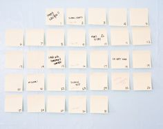 post-it note calendar. nice + simple