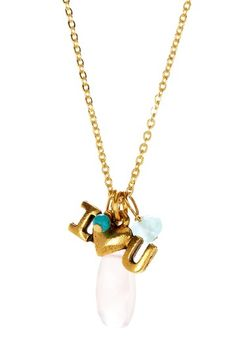 Danielle Stevens I Love You Charm Necklace by Non Specific on @HauteLook
