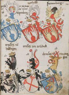 Wappenbuch des St. Galler Abtes Ulrich Rösch Heidelberg · 15. Jahrhundert Cod. Sang. 1084  Folio 258