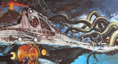 fantastic painted artwork done for Disney's 20,000 Leagues Under the Sea