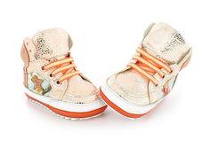 Babyschoen BABY-PROOF® Smart - Speciaal voor de eerste stapjes - Sneaker - Oranje - Neon - Ster - Shoesme Shop - maat18-22