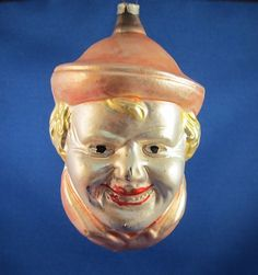 Antique German Glass Christmas Ornament Priest's Head | eBay
