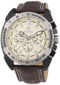 Timberland Men's Quartz Watch TBL.13901JSBS/07 with Leather Strap