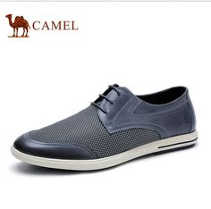 85.00$ Buy now - http://ali9uo.worldwells.pw/go.php?t=32678127180 - Camel men's shoes 2016 summer new fashion casual leather lace breathable mesh men A622043500 85.00$