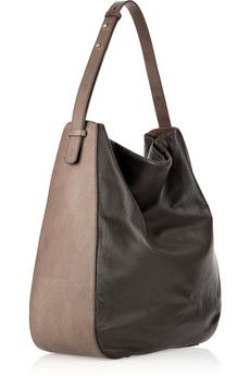 Slouchy leather hobo bag by Maison Martin Margiela
