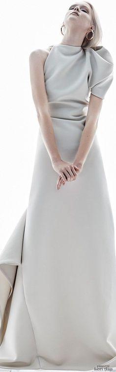 @roressclothes clothing ideas   #women fashion gray maxi dress Maticevski Spring 2017